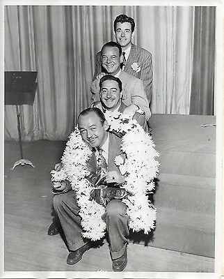 """g241. Original 1947 CBS-TV Photo """"Queen for a Day"""" Emcee Jack Bailey (Mutual)"""