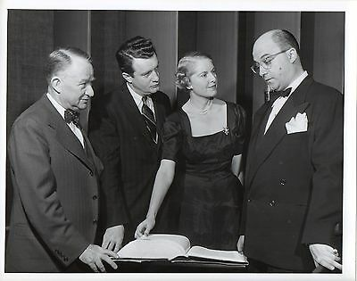 """g264. Rare Photo 1947 CBS-TV """"We Take Your Word"""" Hosts Bryson & Burrows"""
