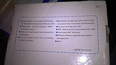 SIP 2.0 VoIP Gateway - ATA Product - New, Unused