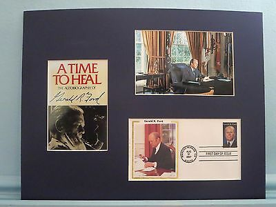 """Gerald Ford autobiography - """"A Time to Heal"""" & his own First day Cover"""