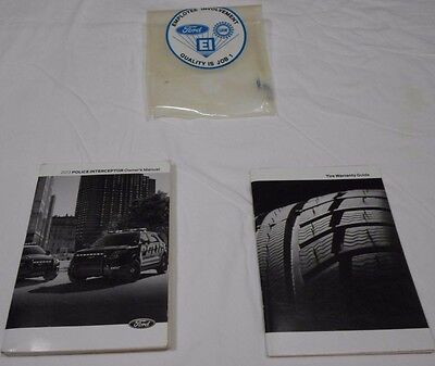 2013 Ford Police Interceptor Owner's Manual+ Tire Warranty & Plastic Ford Sleeve