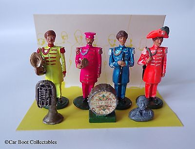 Little Lead Soldiers - The Beatles Sgt. Peppers - Metal Figure Set - Memorabilia