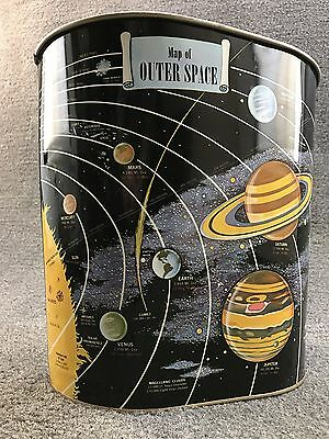 Mid Century Space Age 1962 Harvell Kilgore Map of Outer Space Wastebasket