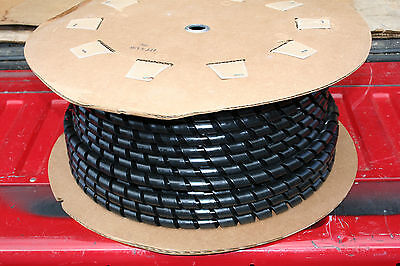 "100 Ft Roll Ht3/4"" Black Spiral Wrap Electrical/cable Protection Nelco"