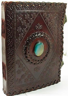 """LARGE Antique Leather Journal with locks-Guest book/Instagram Book-10""""x7"""" 25%off"""