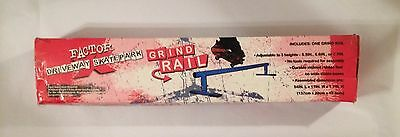 "NEW X-Factor Driveway Skatepark Blue Grind Rail Adustable 3 Heights 54"" L"