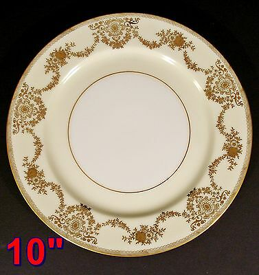 "NSP China Hand Painted Gold Trim Meito Japan 10"" DINNER PLATE dark spot"