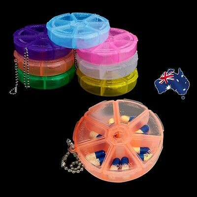 Pill Box 7 Days Dispenser Organiser Container Weekly Container Medicine Case