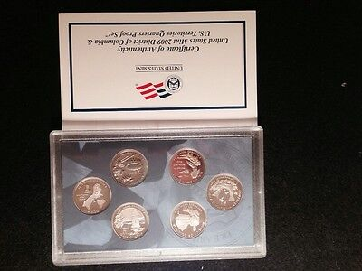 "2009 ""S"" Proof Territories Quarter Set Gem Box & COA (6 Coins)"