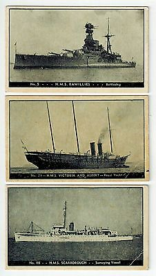 W C Douglass Fountain Foods Collector Cards (1938-42) - British Warships (3)