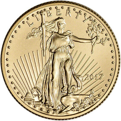 2017 American Gold Eagle (1/4 oz) $10 - BU