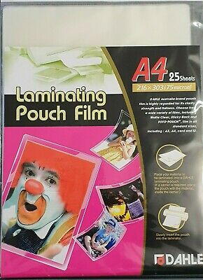 100 Pcs A4 Laminating Pouches 80 micron Gloss 3 Layer High Quality 216mm x 303mm