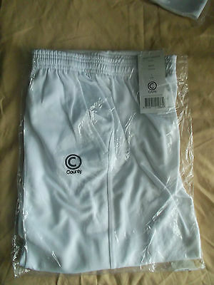 Brand New County White cricket Trousers Large