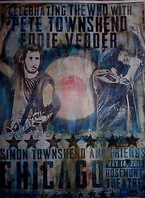 Pete Townsend Eddie Vedder Celebrating The Who Poster benefit Teen Cancer 2015