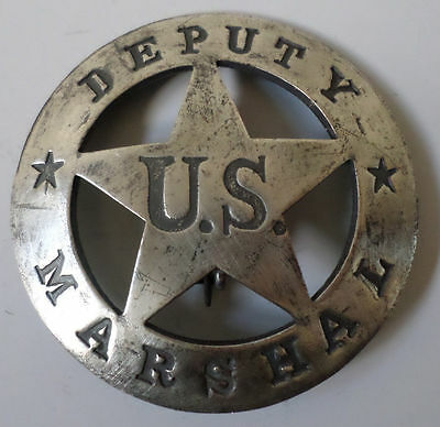 Deputy Us Marshal Old Western Badge Pin Of The Old West