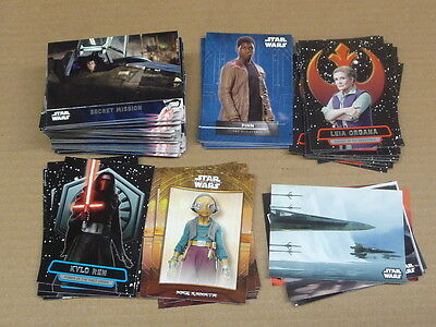 2016 Topps Star Wars SERIES 2 THE FORCE AWAKENS COMPLETE MASTER SET 163 CARDS