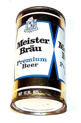 Meister Brau Premium 99-7 Flat Top Beer Can A1+ Cone Tab Soda Chicago Pull MkOfr