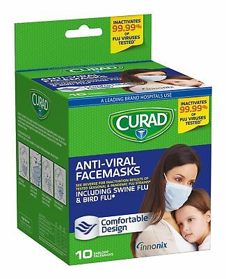 Curad Antiviral Face Mask 10 Count(3 Packs) Pack of 3