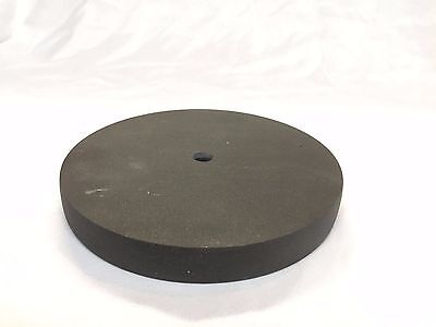"""NEW Round HONED MARBLE Lamp Base 7"""" Diameter 3/4"""" Thick"""