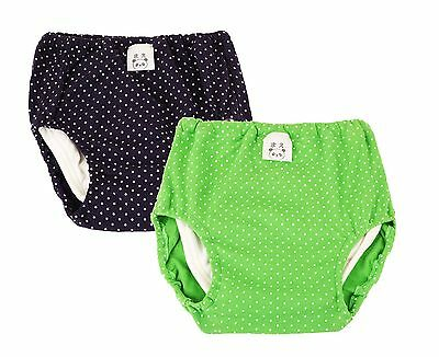 JN&LULU Baby Wave Point Cotton Training Pants Pack of 2 New