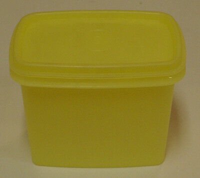 Vintage Tupperware Yellow Shelf Saver Storage Canister with Lid # 1243-10  GUC