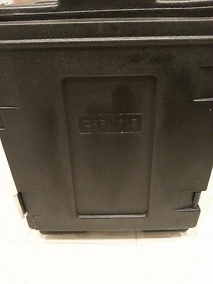 Carlisle Cateraide Black 5 Pan Insulated Front End Loading Food Carrier PC300N03