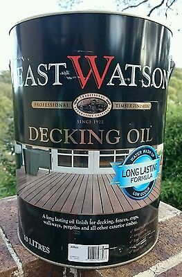 LAST ONE! SAVE $39! 10L Feast Watson WATER BASED Decking Oil RP$183 Natural