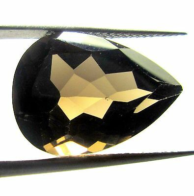 7.00 Ct 1 Piece 100% Natural Smoky Quartz Loose Gemstone Pear Cut 10X15 MM S27