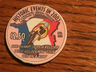 M19  MAHONEY'S SILVER NUGGET $2.50 Poker Chip, New Years 2003, Ltd Ed of 400, LV