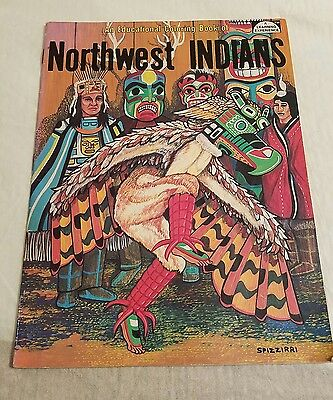 Coloring book Northwest Indians Educational book vtg SALISHAN WAKASHAN CHIMAKUM