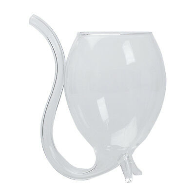 Vampire Wine/Water Glass Cup Mug with Drinking Tube Straw Novelty Gift J2S4