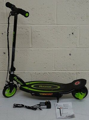 Razor Power Core E90 Electric Scooter Green and Black RRP 159.99 lot B2310