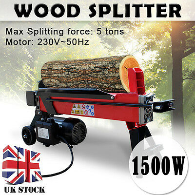 5 Ton 370Mm Electric Hydraulic Log Splitter Firewood Wood Timber Cutter Motor
