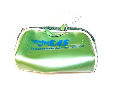 1960s SAS Scandanavian Airlines Travel Bag Coin Purse Delta United Airplane Ofr