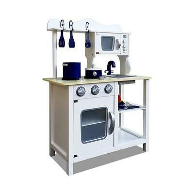 Kids Girls Boys Pretend Role Play Toy Wooden Kitchen. Includes Sink Stove Oven