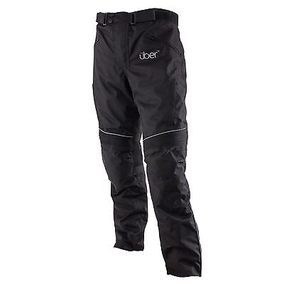 Uber Highway Textile Motorcycle Bike CE Armoured Pants Trousers - Black