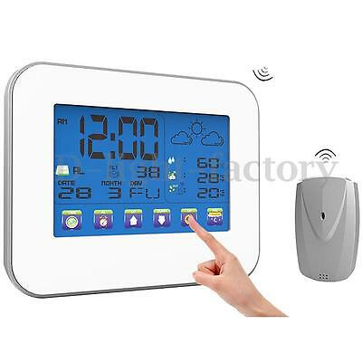 Touch Screen Wireless Weather Station Thermometer Hygrometer With Transmitter