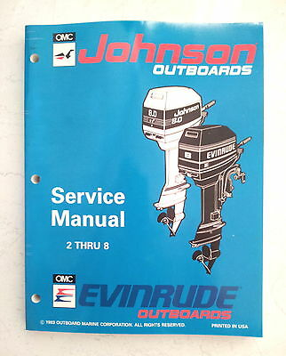 Evinrude Johnson Service Manual 1994  2 2.3  3  3.3  4  5  6  8 Hp