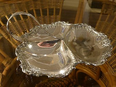 Daniel & Arter Art Deco Silver Plated Three Section Oval Dish  #191115145/150