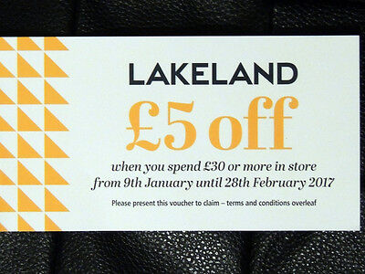 £5 Money off Voucher for Lakeland (If you spend £30+) Valid for 6 Weeks