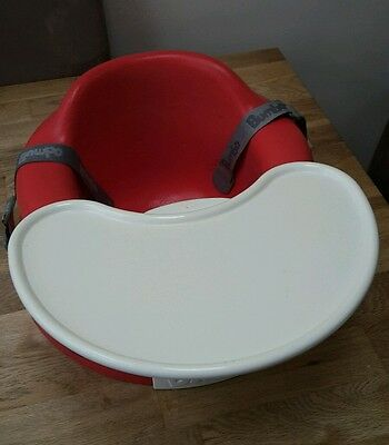 Great condition BUMBO seat with tray and straps