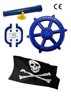 Blue Kids Toy Climbing Frame Accessory Bundle With A FREE Pirate Flag