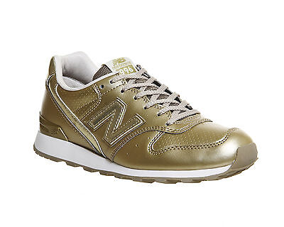 Womens New Balance 996 GOLD MONO  Trainers Shoes