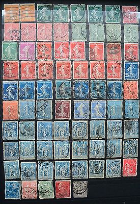 A collection of used French definitive stamps