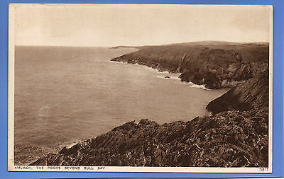 Old Vintage Postcard The Rocks Beyond Bull Bay Amlwch Anglesey Wales