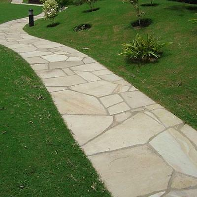 MINT FOSSIL 22 mm Calibrated Indian Sandstone CRAZY PAVING / FLAGSTONE (PREMIUM)