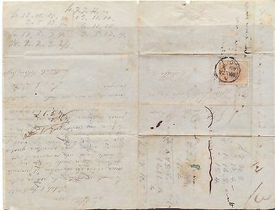 S1-Malta SG 1 1/2d buff blued paper local cover - early single ring cancel
