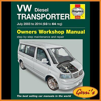 5743 Haynes VW T5 Transporter Diesel (2003 - 2010) Workshop Manual