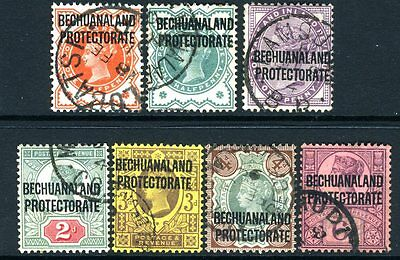 BECHUANALAND-1897 A fine used set to 6d Sg 59-65
