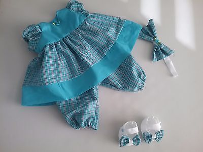 "4 piece Dolls set for 20"" turquoise"